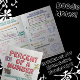 Percent of a Number - Doodle Note Brochure for Interactive Notebooks