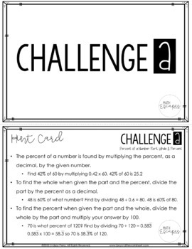 Percent of a Number Escape Room Activity - FREE CHALLENGE