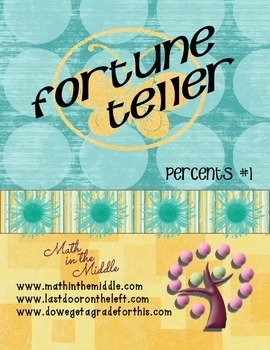 Percent of a Number Fortune Teller #1