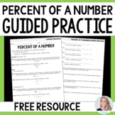 Percent of a Number Guided Practice - Free Activity