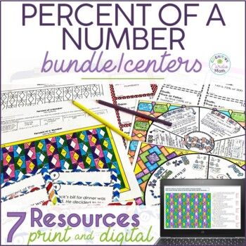 Percent of a Number Math Center Resources