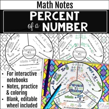 Percent of a Number Math Wheel - Fun Note-taking Format