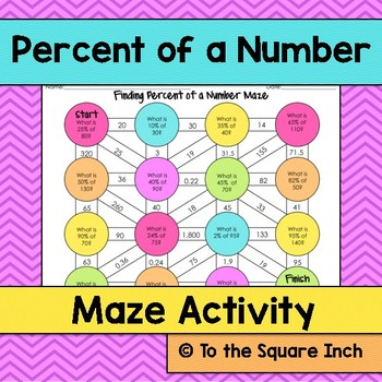 Percent of a Number Maze