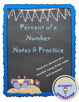 Percent of a Number Notes, Practice, and Fun Activity Bundle