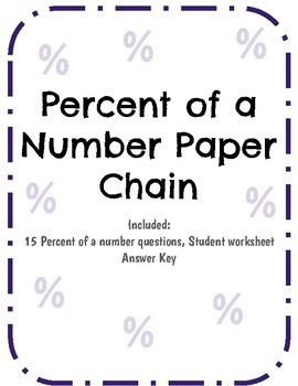 Percent of a Number Paper chain