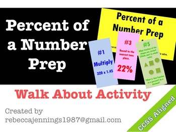 Percent of a Number Prep Activity