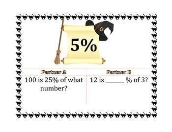 Percent of a Number Scavenger Hunt 7EE3, 7RP3