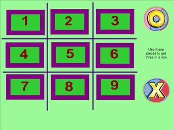 Percent of a Number Tic Tac Toe Smartboard Game