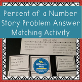 Percent of a Number Activity Card Matching