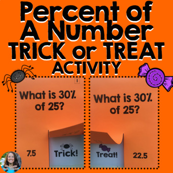 Percent of a Number Halloween Activity (TRICK or TREAT)