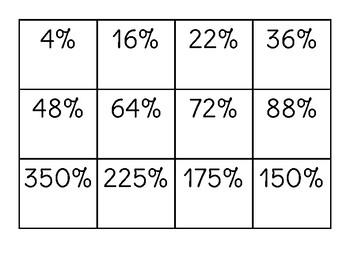 """Percent of a Number """"War"""""""