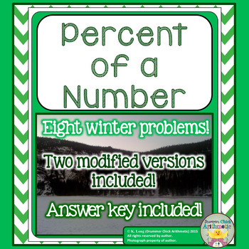 Percent of a Number: Winter Edition!