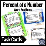 Percent of a Number Word Problem Task Cards