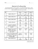 Percent of a Quantity Color Sheet