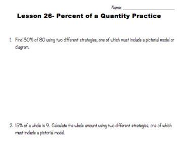 Percent of a Quantity (Eureka Module 1 Lesson 26)