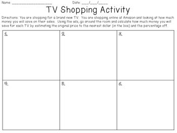 Percent of a Quantity TV Shopping Ad Activity