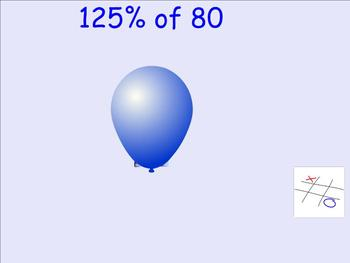 Percent of a Whole Number Tic Tac Toe - Smartboard