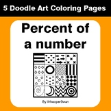 Percent of a number - Coloring Pages | Doodle Art Math