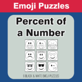 Percent of a number - Emoji Picture Puzzles