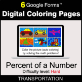 Percent of a number - Hard - Digital Coloring Pages | Goog