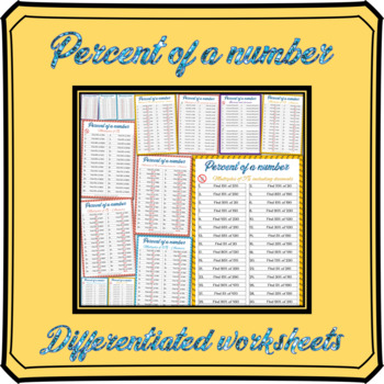 Percent of a number worksheets
