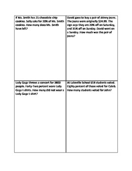 Percent of word problems