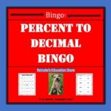 Percent to Decimal Bingo (30 pre-made cards!)