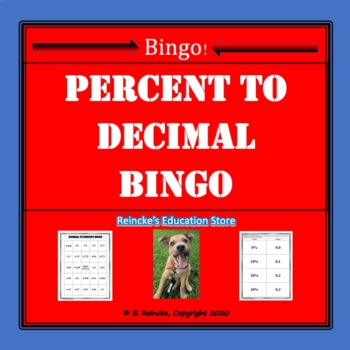 Percent to Decimal Bingo (30 pre-made cards!)