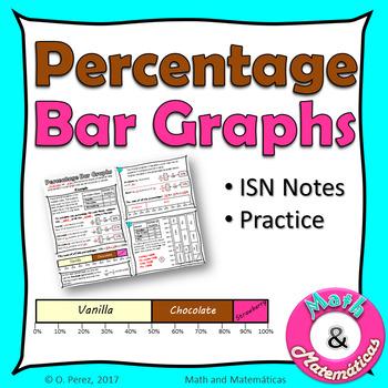 Percentage Bar Graphs - Percent Bar Graphs Practice - ISN Notes - TEKS 6.12D