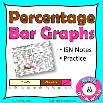 Percentage Bar Graphs - Percent Bar Graphs Practice - ISN Notes - TEKS 6.12D