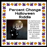 Percentage Change Halloween Riddle