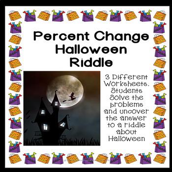 Percentage Change Halloween Riddle