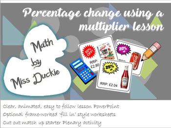 Percentage Change Lesson