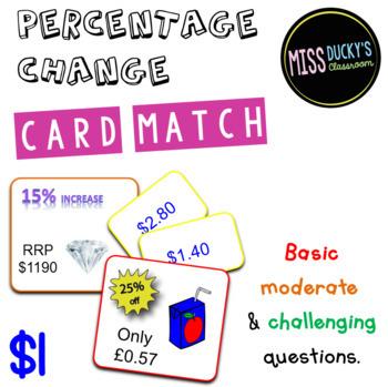 Percentage Change  Matching Activity