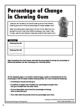 Percentage Change Of Chewing Gum