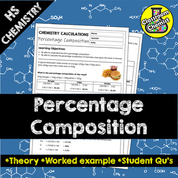 Percentage Composition worksheet