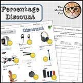 Percentage Discount Worksheet Homework Sheet Fun Challenge