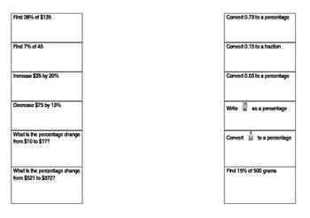 Percentage Foldable