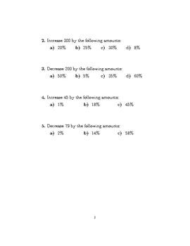 Percentage Increase Decrease (Using a multiplier)