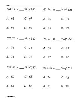 Percentage Multiple Choice (Quiz)