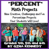 Percent Projects, Math Enrichment for Upper Elementary, Vocabulary Handout
