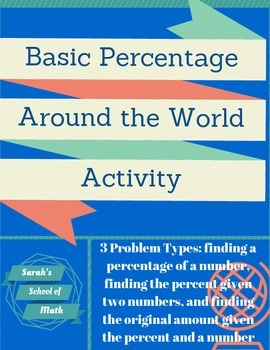Percentage Problems-Around the World Activity