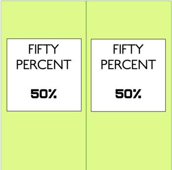 Percentage Strips - Printable Resources