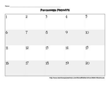 Percentage Task Cards