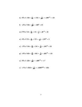 Percentage of a quantity (non-calculator)