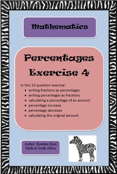 Percentages Exercise 4