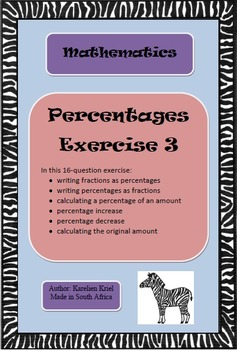 Percentages Exercise 3