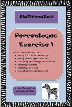 Percentages Exercise 1