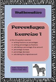Percentages: 25-question exercise (1) (PDF)