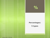 Percentages: 5 types